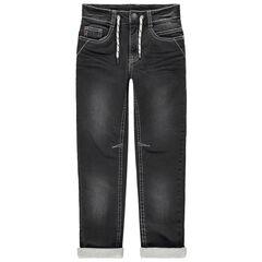 Straight-fit jeans met used en crinkle-effect , voering van jerseystof