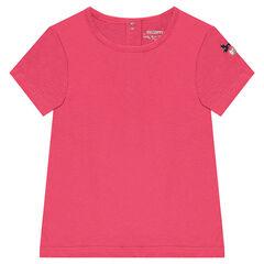 T-shirt met korte mouwen en geborduurd hart