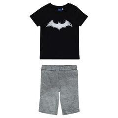 Korte pyjama van jerseystof met BATMAN print