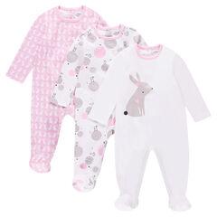 Set met 3 pyjama's van jerseystof met fantasieprint
