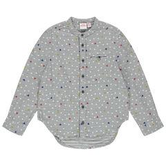 Chemise manches longues à étoiles et sertis Mickey Disney