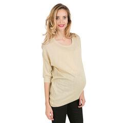 Pull de grossesse en tricot effet brillant