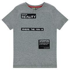 Tee-shirt manches courtes en jersey avec patchs printés