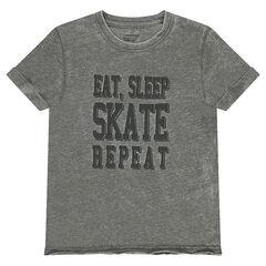 Junior - Tee-shirt manches courtes avec message printé
