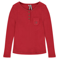 Junior - T-shirt met lange geribde mouwen