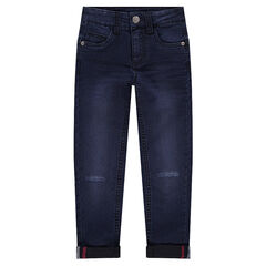 Junior - Skinny jeans met used en crinkle effect