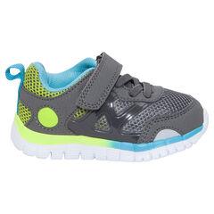 Sportieve sneakers met elastische veters en klittenbandsluiting