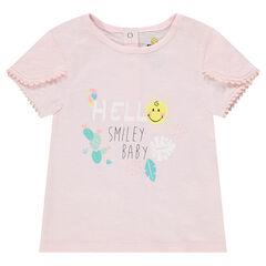T-shirt van organisch katoen en ©Smiley-print