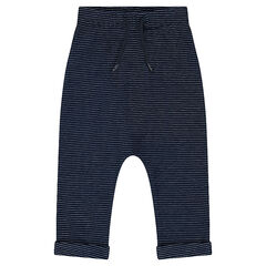 Pantalon de jogging en molleton avec motif jacquard