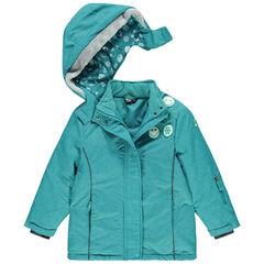 Blouson de ski imprimé étoiles all-over avec badges Smiley