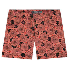 "Junior - Geverfde short met bloemenprint ""all-over"""