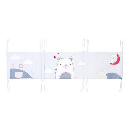 Tour de lit en popeline avec oursons brodés