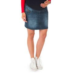 Rok voor tijdens de zwangerschap in jeans used effect en crinkle effect
