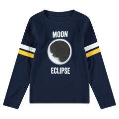 Junior - T-shirt met lange mouwen uit jerseystof met print met verduistering