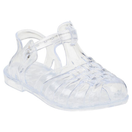 Sandales de plage transparentes à boucle