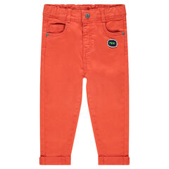 Pantalon en twill avec badge et poche forme ourson