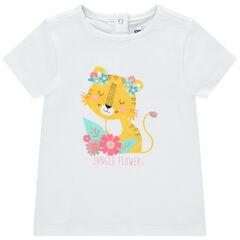 T-shirt manches courtes en coton bio à imprimé coloré , Orchestra
