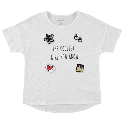 Junior - T-shirt manches courtes en jersey avec badges mobiles