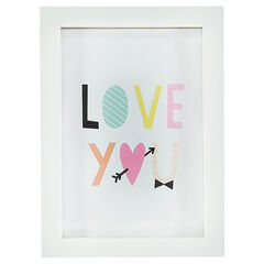 Kader met print met boodschap 30 x 22 cm