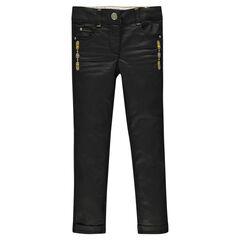 Pantalon coupe slim effet enduit