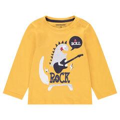 T-shirt met lange mouwen uit jerseystof met print met dieren
