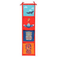 In fluweel in popeline en jersey 4 zakken - 112,5x30 cm