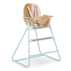 Chaise haute Ironwood - Naturel/mint blue
