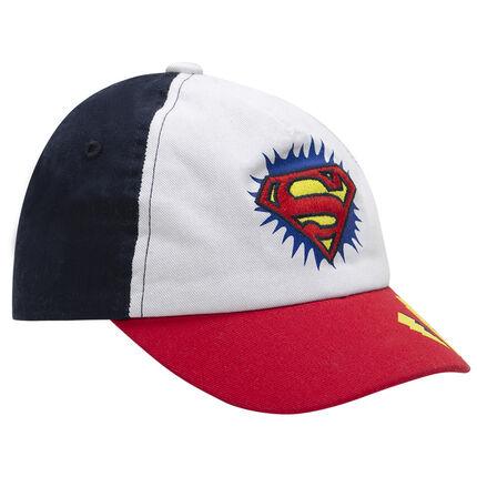Pet van twill in drie kleuren met geborduurd Warner Superman logo!