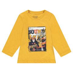 Tee-shirt manches longues en jersey avec print fantaisie