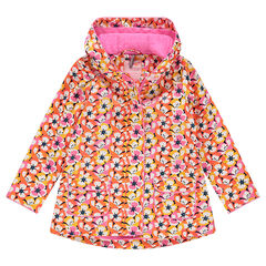 "Rubberen windstopper met bloemenprint ""all-over"""