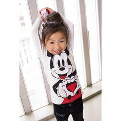 T-shirt met lange mouwen uit jerseystof met print van ©Disney's Mickey en hals met volants