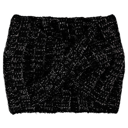 Snood van tricot gemengd met zilveren draad