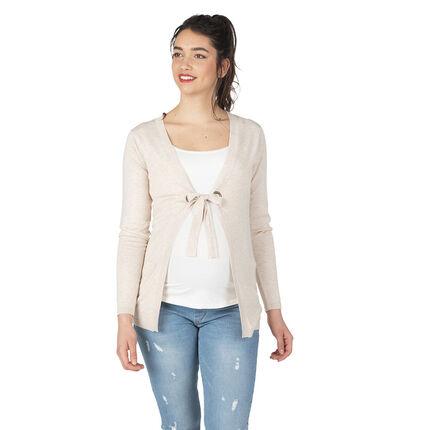 look for popular stores high quality Gilet de grossesse en tricot chiné avec liens à nouer ...