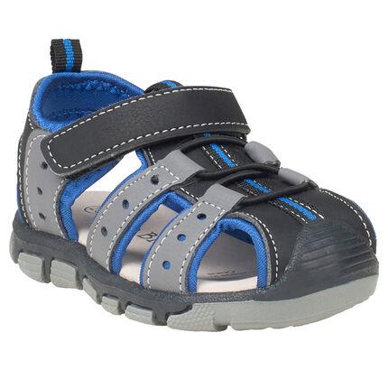 Nu-pieds bi-matière à scratch