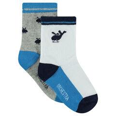 Set met 2 paar matching sokken met helikoptermotief