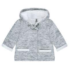 Manteau à capuche en molleton doublé sherpa