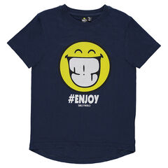 Junior - Tee-shirt manches courtes avec print ©Smiley