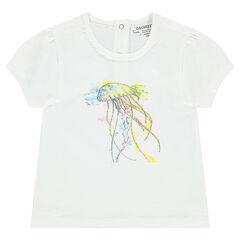 Tee-shirt manches courtes en jersey avec méduse printée