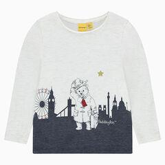 Tee-shirt en jersey slub brillant print ©Paddington