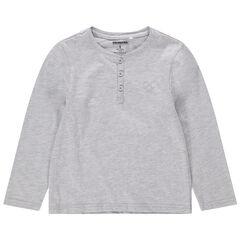 T-shirt manches longues en jersey avec logo brodé