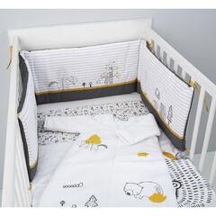 Tour de lit en popeline de coton motif Animaux de la forêt
