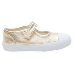 Gouden meisjesschoenen met klittenband van maat 24 tot 29