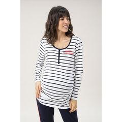 Homewear shirt met lange mouwen