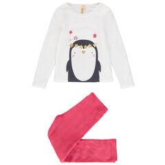 Pyjama en polaire avec motif pingouin