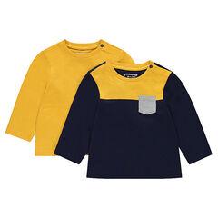 Lot de 2 tee-shirts manches longues avec poche
