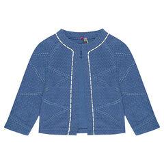Gewatteerde en geborduurde jas