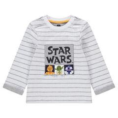 Tee-shirt manches longues en jersey avec personnages Star Wars™ printés