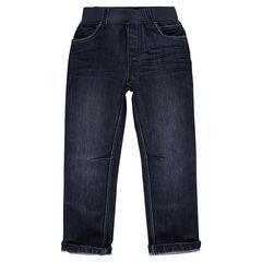 Jeansbroek elastische tailleband