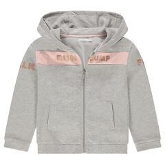 Junior - Gilet à capuche en molleton zippé avec motif fantaisie