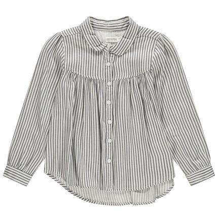 Chemise à manches longues à rayures